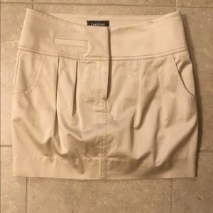 Bebe Tan Mini Skirt Size 0 Satin Feel Material